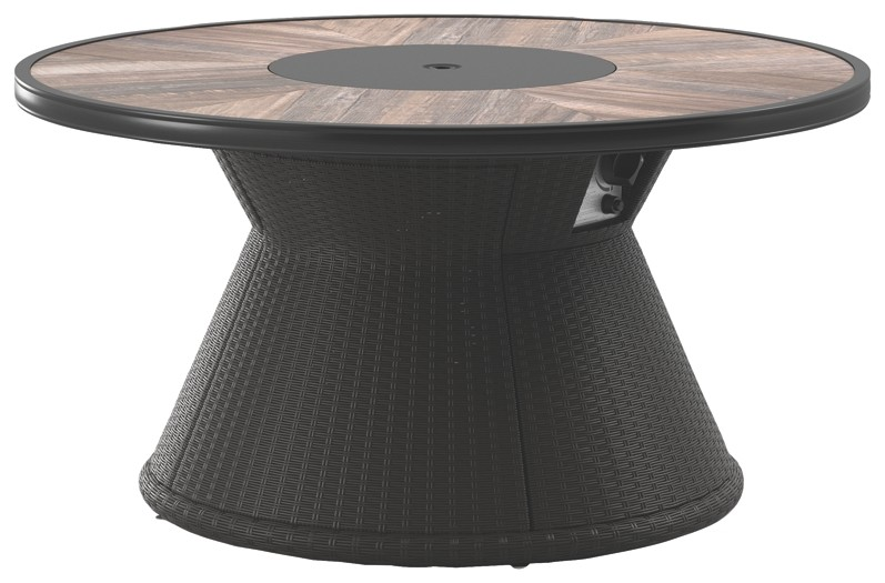 Marsh Creek - Brown - Round Fire Pit Table