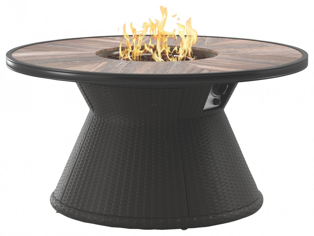 Marsh Creek Brown Round Fire Pit Table P775 776