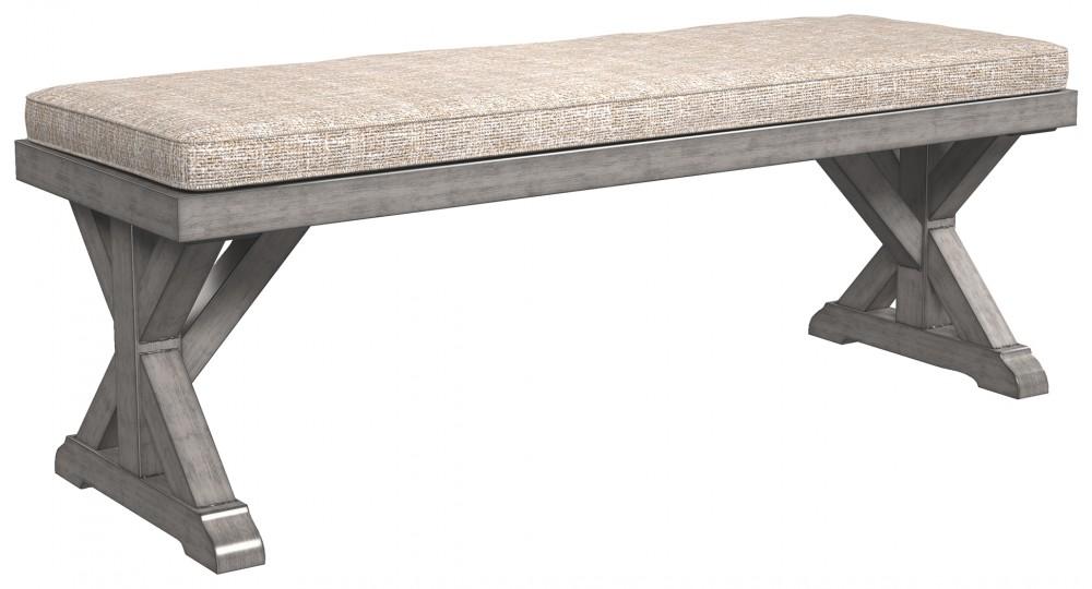 Beachcroft - Beige - Bench with Cushion