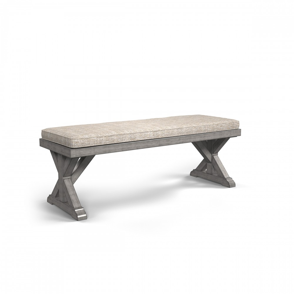 Beachcroft - Beige - Bench with Cushion