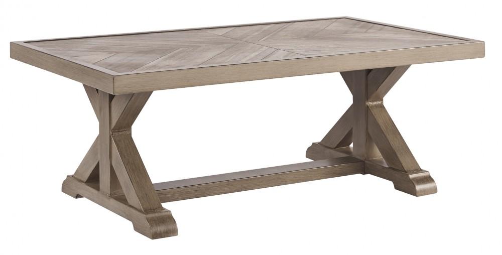Beachcroft - Beige - Rectangular Cocktail Table