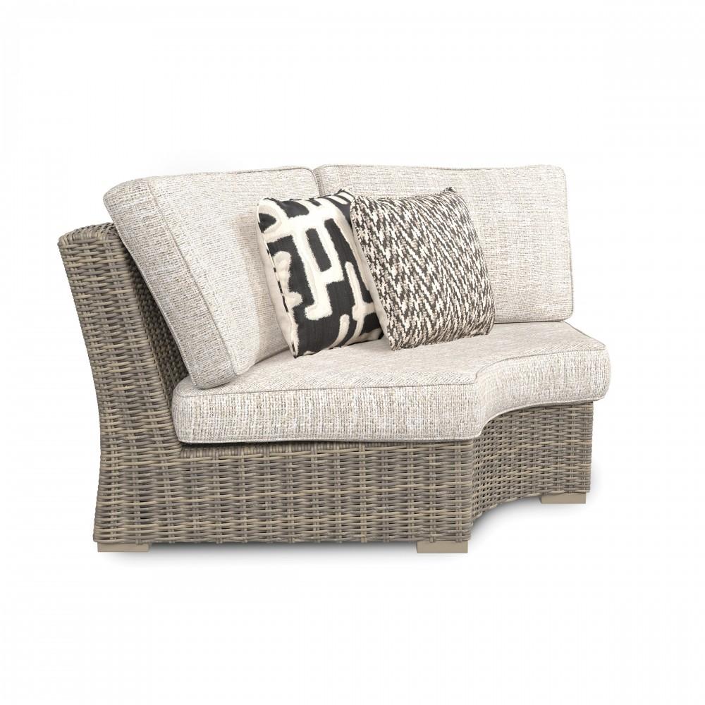 Beachcroft - Beige - Curved Corner Chair w/Cushion