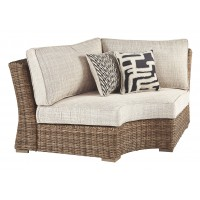 Beachcroft Curved Corner Chair with Cushion