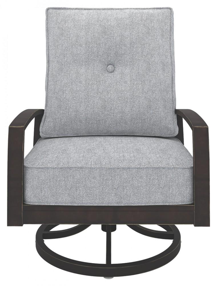 Castle Island Dark Brown Swivel Lounge Chair P414
