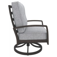 Castle Island - Dark Brown - Swivel Lounge Chair