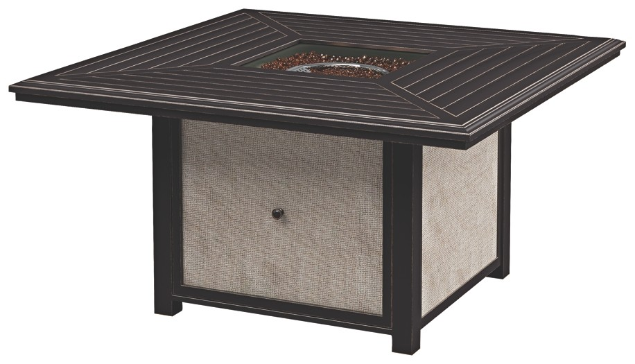 Town Court - Brown - Square Fire Pit Table