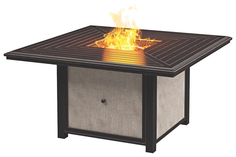 Town Court Brown Square Fire Pit Table P436 772 Fire Pits
