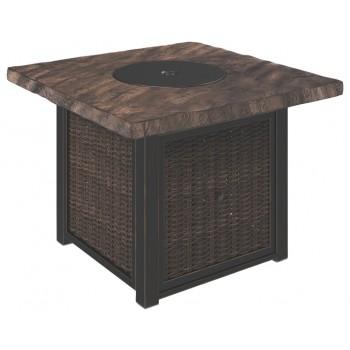 Alta Grande - Beige/Brown - Square Fire Pit Table
