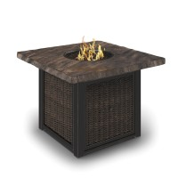 Alta Grande - Beige/Brown - Square Fire Pit Table