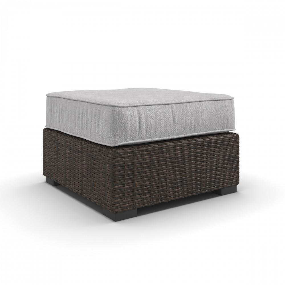 Stupendous Alta Grande Beige Brown Ottoman With Cushion Uwap Interior Chair Design Uwaporg