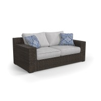 Alta Grande - Beige/Brown - Loveseat w/Cushion
