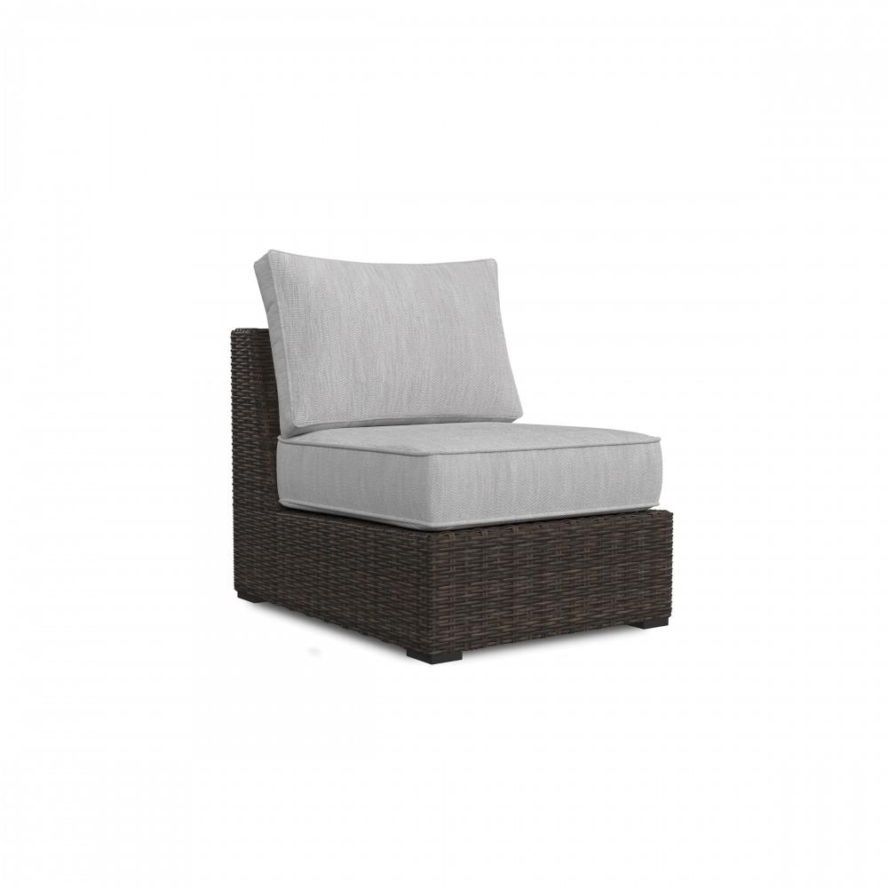 Merveilleux Alta Grande   Beige/Brown   Armless Chair W/Cushion (1/CN