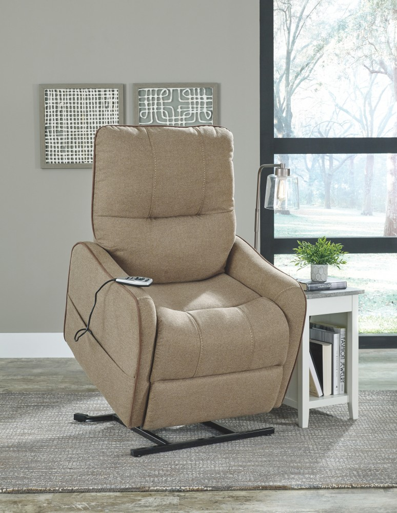 Enjoy - Latte - Power Lift Recliner