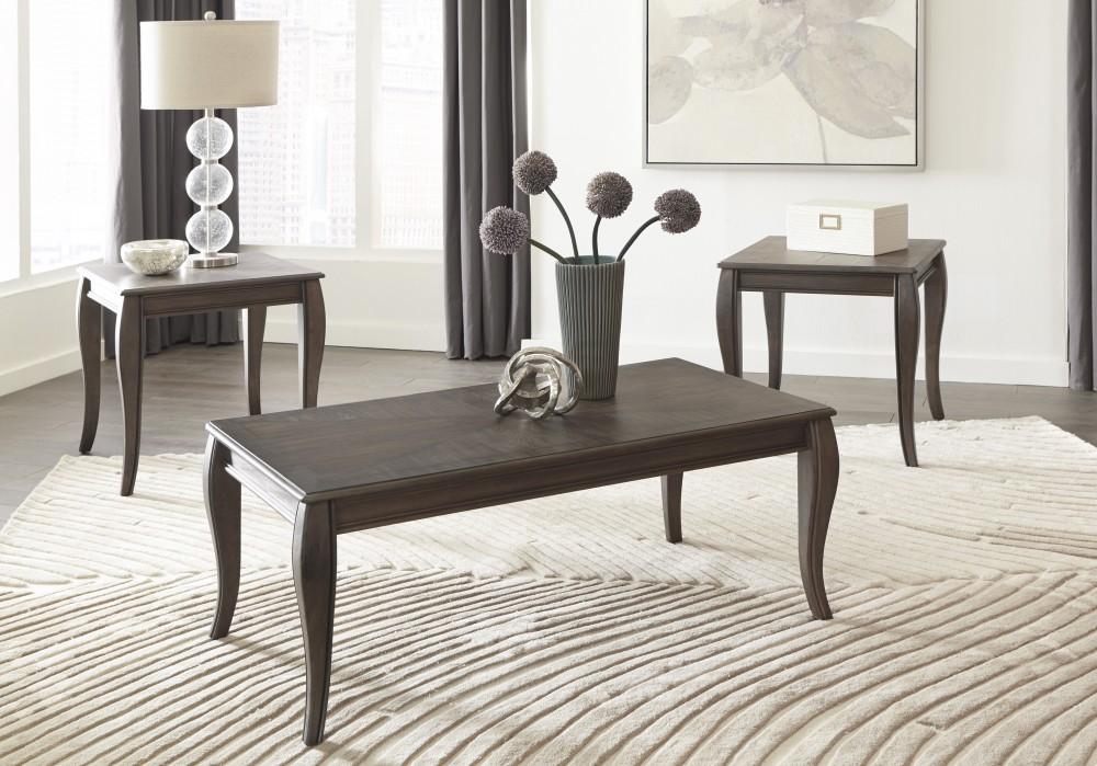 Bon Vintelli   Metallic Gray   Occasional Table Set (3/CN)