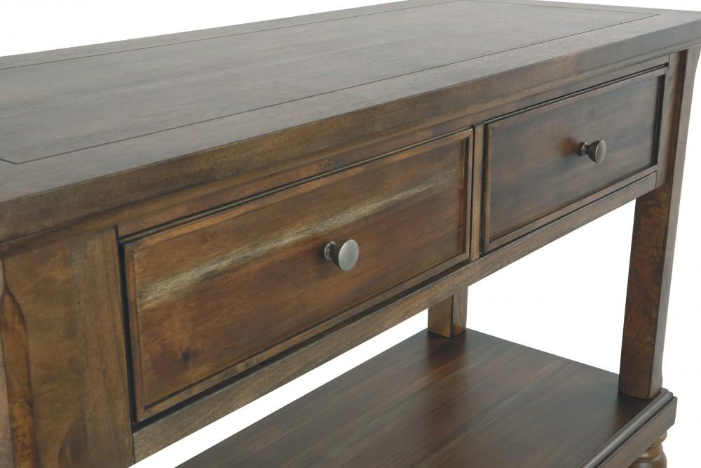 Flynnter Medium Brown Console Sofa Table T716 4