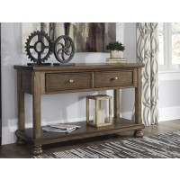 Flynnter - Medium Brown - Console Sofa Table