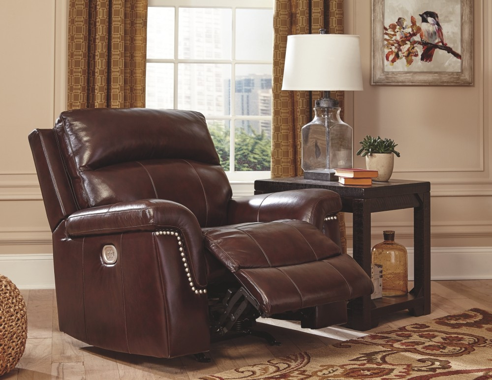 Timmons - Burgundy - PWR Recliner/ADJ Headrest