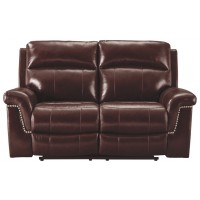 Timmons - Burgundy - PWR REC Loveseat/ADJ Headrest