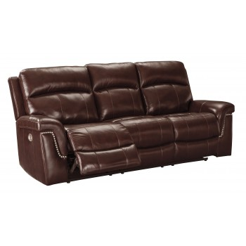 Timmons - Burgundy - PWR REC Sofa with ADJ Headrest