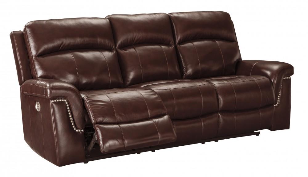 Timmons - Burgundy - PWR REC Sofa with ADJ Headrest