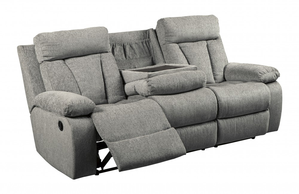 Mitchiner Fog Reclining Sofa W Drop Down Table 7620489