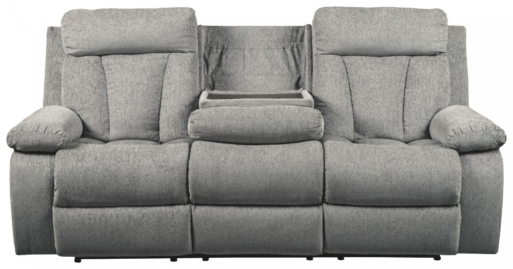 Mitchiner Fog Reclining Sofa W Drop Down Table