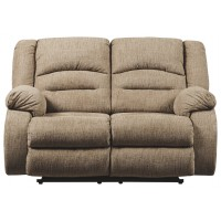 Labarre - Mocha - PWR REC Loveseat/ADJ Headrest