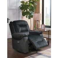 Waldheim - Gray - PWR Recliner/ADJ Headrest