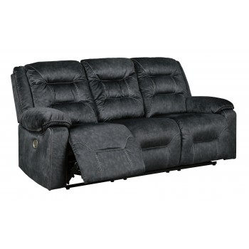 Waldheim - Gray - PWR REC Sofa with ADJ Headrest