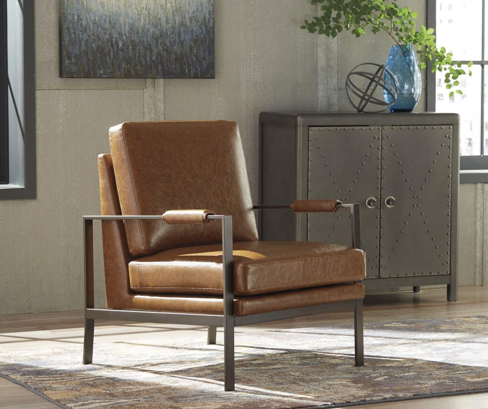 living room accent furniture peacemaker brown accent chair a3000029 chairs 12437