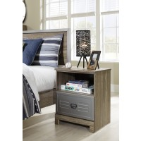 McKeeth - Gray - One Drawer Night Stand