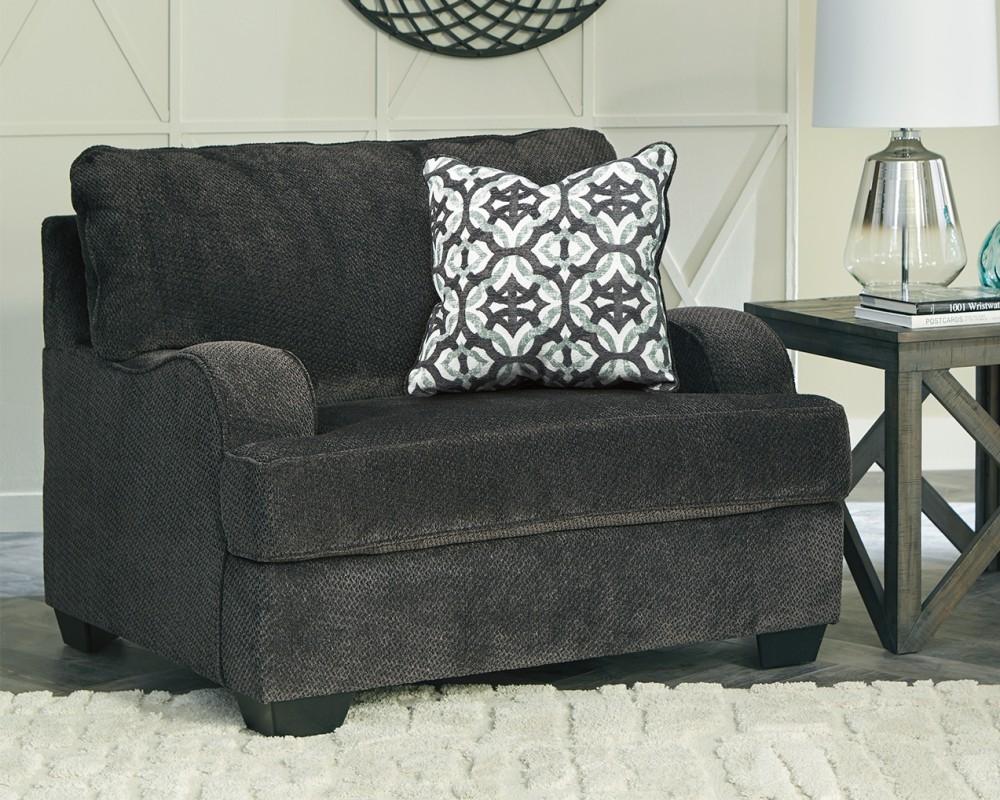 Charenton Charcoal Chair And A Half 1410123 Living