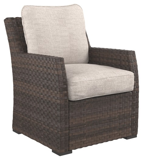 Salceda - Beige/Brown - Lounge Chair w/Cushion (1/CN)