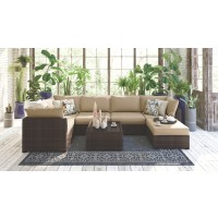 Spring Ridge Lounge Chair with Ottoman and Table
