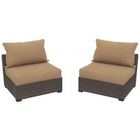 Spring Ridge Armless Chair with Cushion (Set of 2)