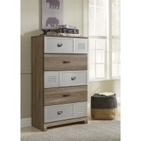 McKeeth - Gray - Five Drawer Chest
