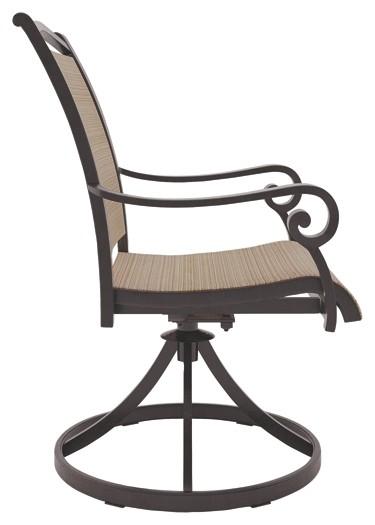 Bass Lake - Beige/Brown - Sling Swivel Chair (2/CN)