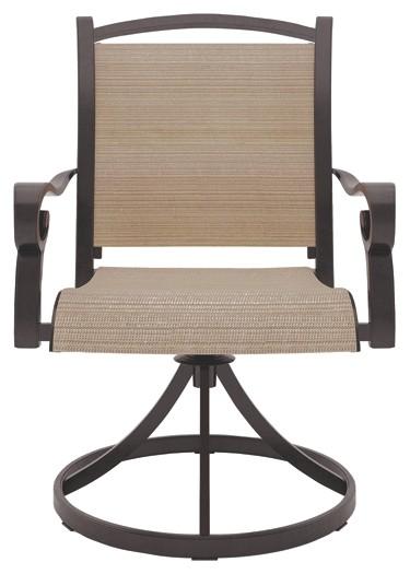 Surprising Bass Lake Beige Brown Sling Swivel Chair 2 Cn P317 Creativecarmelina Interior Chair Design Creativecarmelinacom