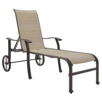 Bass Lake - Beige/Brown - Sling Chaise Lounge