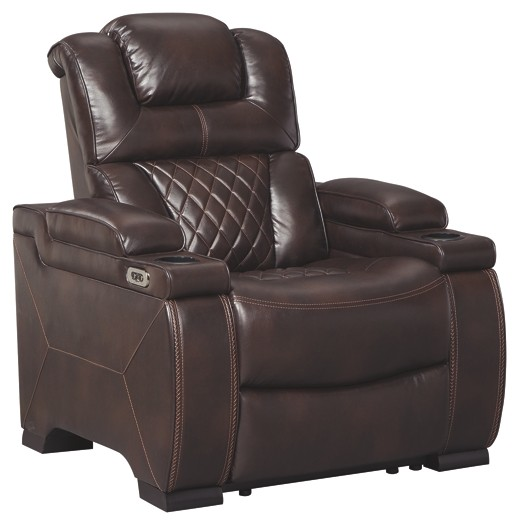 Warnerton - Chocolate - PWR Recliner/ADJ Headrest