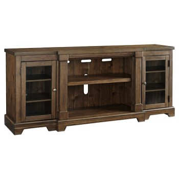 Flynnter - Medium Brown - XL TV Stand w/Fireplace Option
