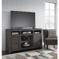 Mayflyn - Charcoal - LG TV Stand w/Fireplace Option