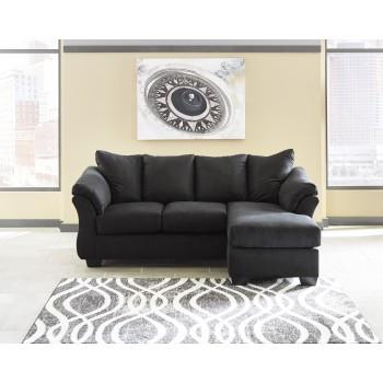 Darcy - Black - Sofa Chaise