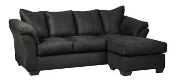 Fantastic Darcy Black Sofa Chaise Dailytribune Chair Design For Home Dailytribuneorg