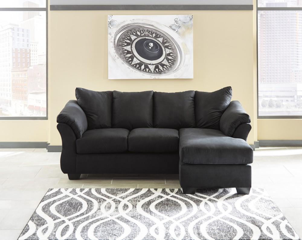 Gentil Darcy   Black   Sofa Chaise
