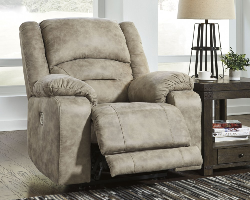 McGinty   Graystone   PWR Recliner/ADJ Headrest