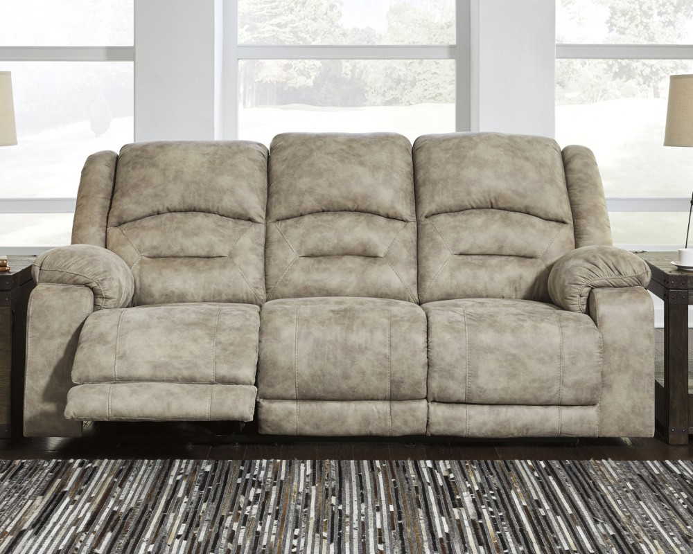 McGinty   Graystone   PWR REC Sofa With ADJ Headrest