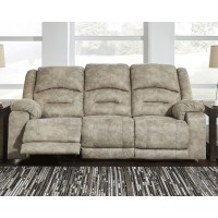 McGinty - Graystone - PWR REC Sofa with ADJ Headrest