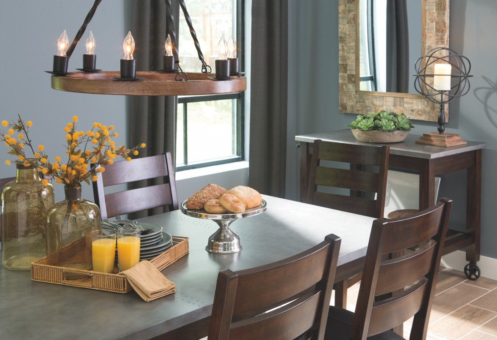 Larchmont - Burnished Dark Brown - Rectangular Dining Room Table