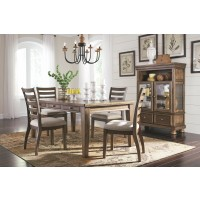 Flynnter - Medium Brown - Dining UPH Side Chair (2/CN)